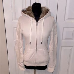 TNA faux fur lined hoodie
